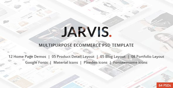 Jarvis - Multipurpose eCommerce PSD template