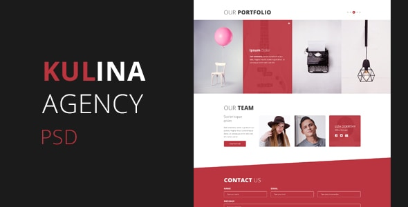 Kulina Agency - One Page PSD
