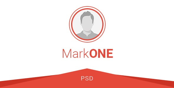 MarkONE - OnePage Resume PSD Template