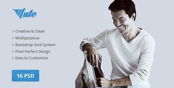 Mute Multipurpose Creative | PSD Template
