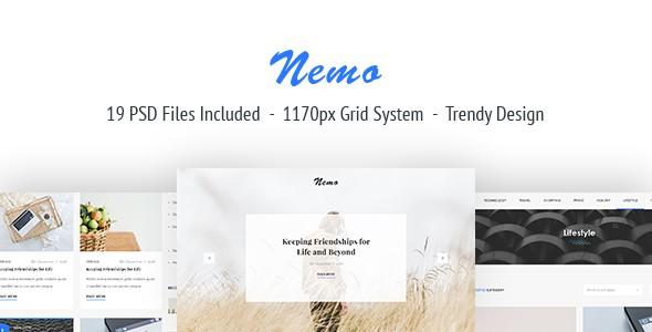 Nemo Blog PSD Template