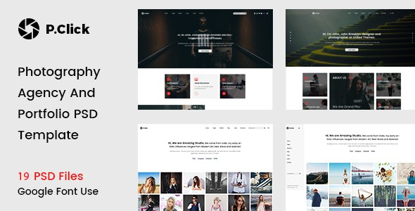 P.Click Photography Template