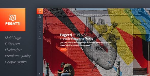 Pagetti - Fullscreen Portfolio Template
