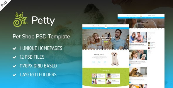 Pet Shop - PSD Template