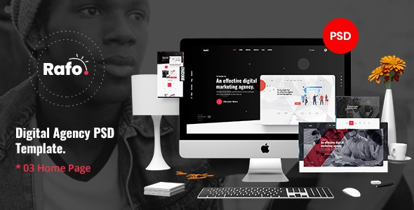 Rafo - Digital Agency PSD Template