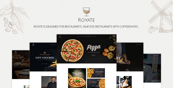 Royate | Restaurant PSD Template