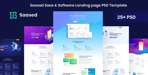 Saased - Agency, Saas, Shop and Software PSD Landing page