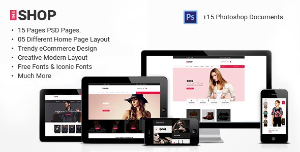 The Shop | e-commerce PSD Template