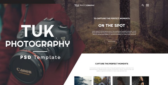 TUK - Photography PSD Template