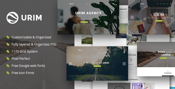 Urim | Creative Multipurpose PSD Template