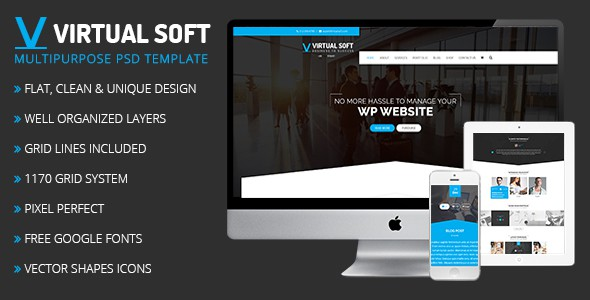 Virtual Soft – Multipurpose PSD Template