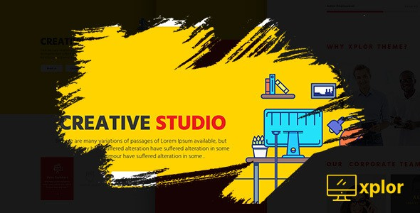 Xplor - Creative Agency PSD Template