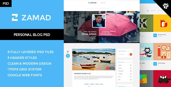 Zamad - Personal Blog Theme