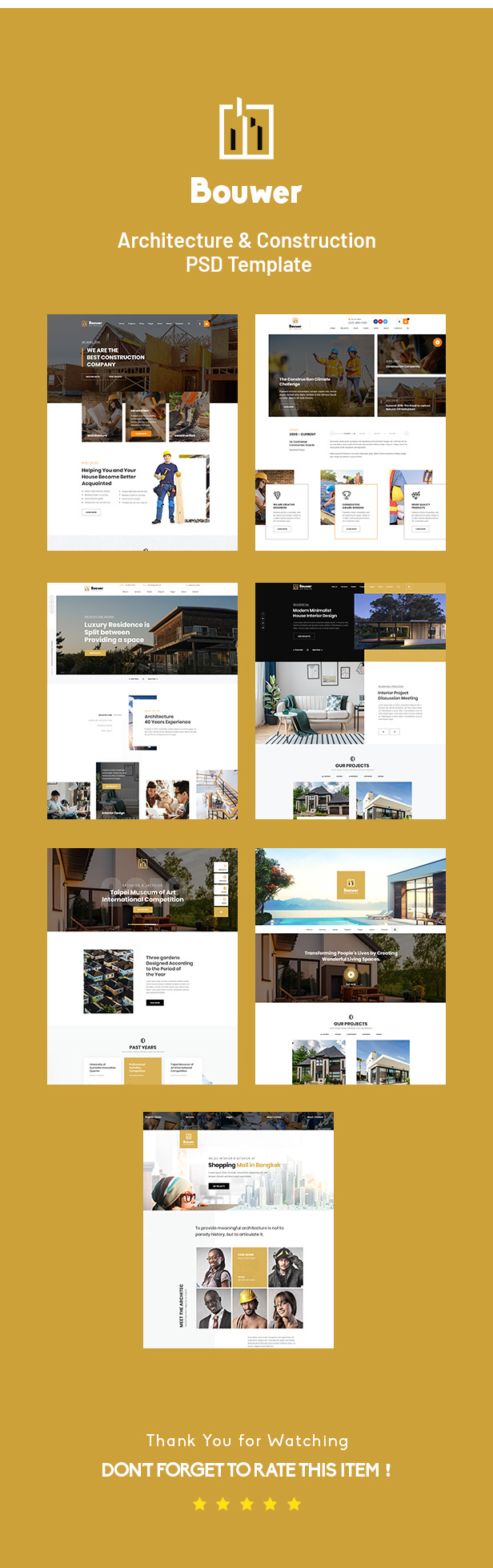 Bouwer - Architecture & Construction PSD Template - 1