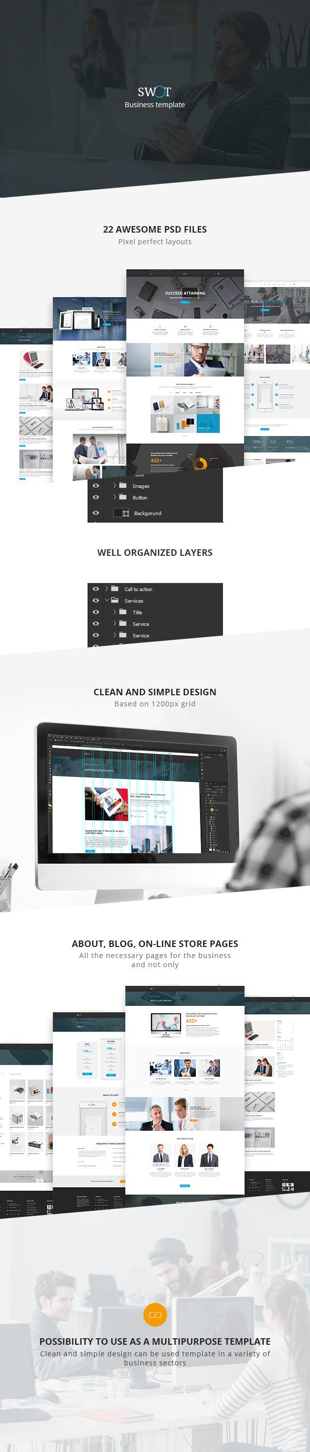 SWOT — Multi-Concept Business PSD Template - 1