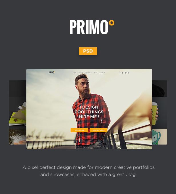 Primo° - Creative Portfolio PSD Template - 3