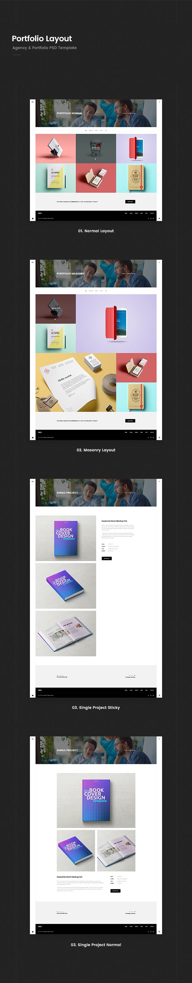 Prex   Creative Agency & Portfolio PSD Template - 2