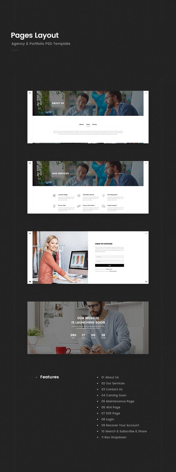 Prex   Creative Agency & Portfolio PSD Template - 3