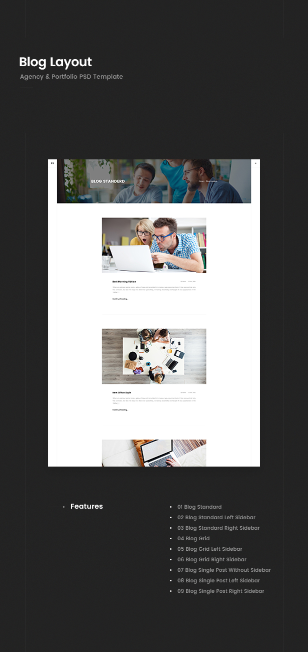 Prex   Creative Agency & Portfolio PSD Template - 4