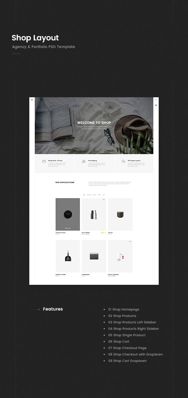 Prex | Creative Agency & Portfolio PSD Template - 5
