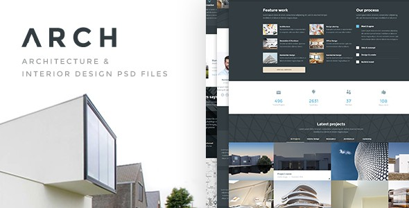 ARCH - Architecture & Interior PSD Template