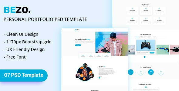 BEZO - Personal Portfolio PSD Template