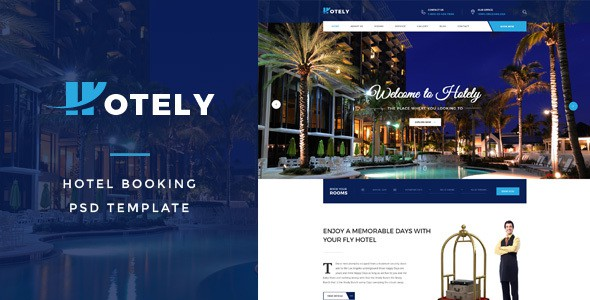 Hotely - Hotel Booking & Travel PSD Template