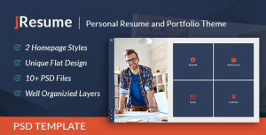 jResume - Creative vCard & Resume Portfolio PSD Template