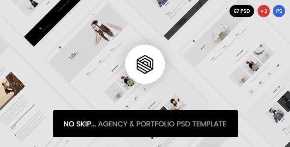 No Skip - Creative Agency & Portfolio PSD Template
