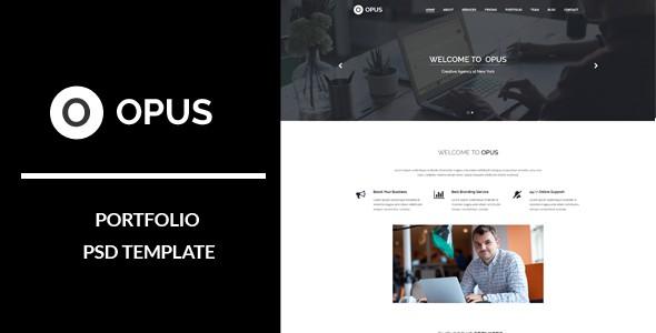Opus : Portfolio PSD Template
