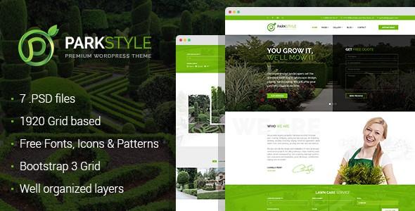 Parkstyle - lawn and landscape desig PSD template