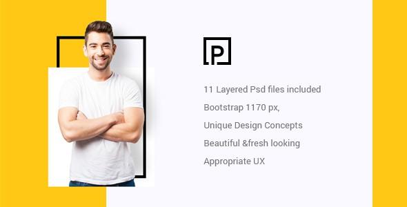 Pattirck - Personal Portfolio PSD Template.