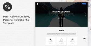 Pon - Responsive Agency Creative, Personal Portfolio PSD Template