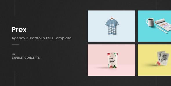 Prex | Creative Agency & Portfolio PSD Template