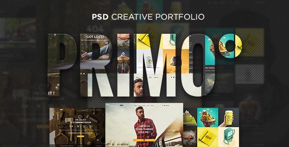Primo° - Creative Portfolio PSD Template