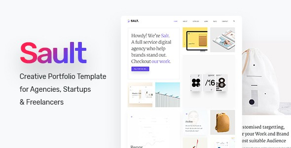 Sault - Creative Portfolio Template for Agencies, Startups & Freelancers