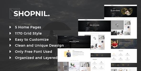 Shopnil - Portfolio PSD Template