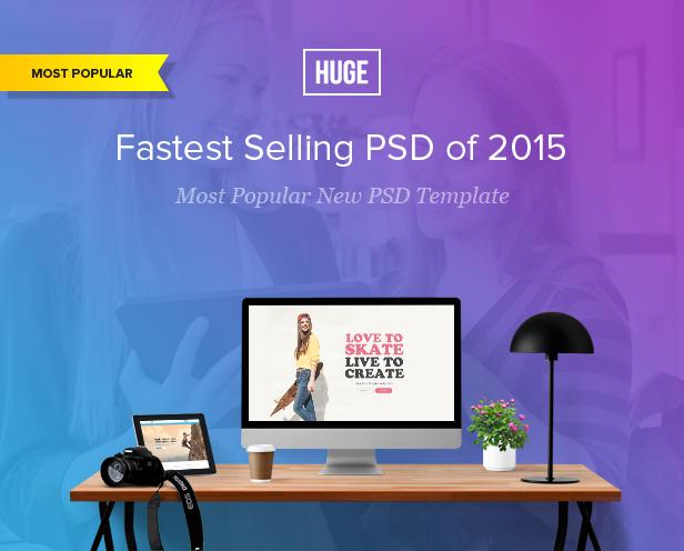 HUGE - Multipurpose PSD Template - 8