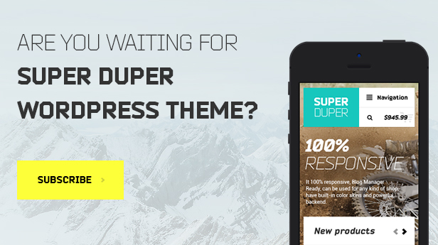 Super Duper | PSD Template - 1