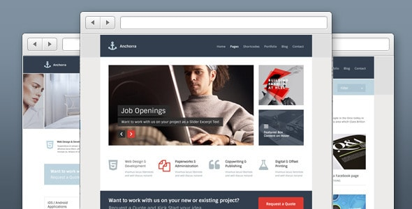 Anchorra - Multipurpose Website PSD Template