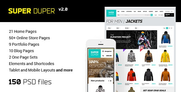 Super Duper | PSD Template