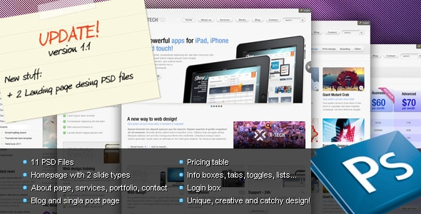 X-Tech Premium Psd template