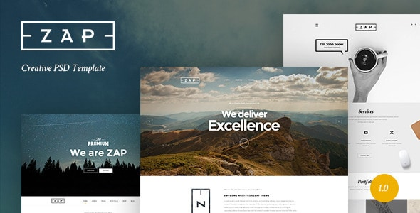 ZAP - Creative PSD Template