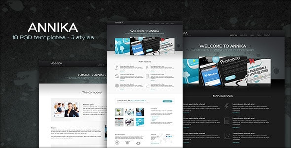 Annika - Portfolio or Business theme