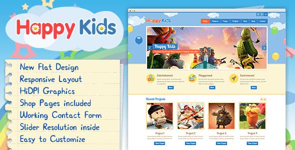 Happy Kids - Multipurpose HTML Template