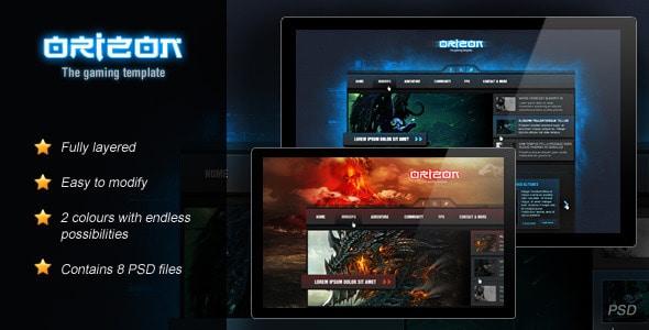 Orizon - The Gaming Template