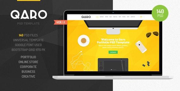 QARO - Clean & Modern PSD Template