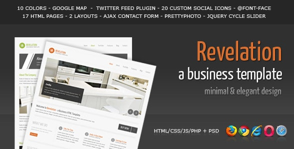 Revelation - Elegant and Minimal Business Template