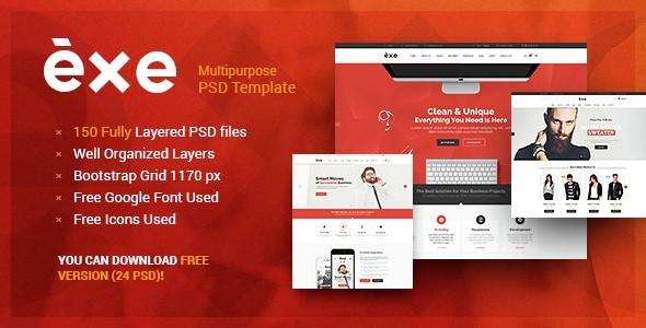 Exe - Multipurpose PSD Template