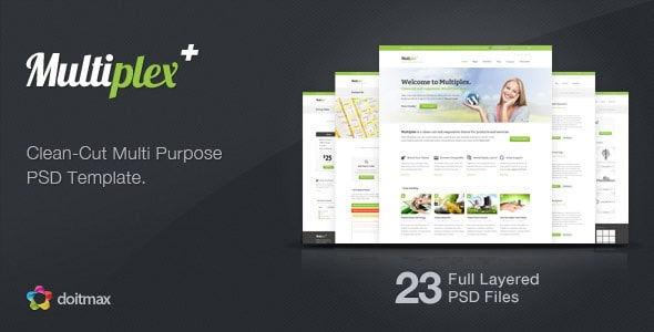 Multiplex - A Clean-Cut Multi Purpose PSD Template